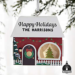 Christmas House Personalized Light-Up Christmas Ornament