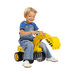 BIG Power Worker Maxi Digger Ride-On in Yellow