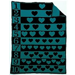 Number Hearts Blanket