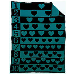 Number Hearts Blanket