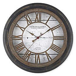 Sterling & Noble™ Farmhouse Collection Roman Grill 15.5-Inch Wall Clock in Black