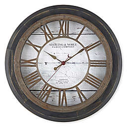 Sterling & Noble™ Farmhouse Collection Rustic Roman Grill Wall Clock in Black