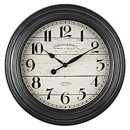 Sterling & Noble® Shiplap Farmhouse 11.5-Inch Wall Clock in Black
