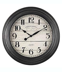 Sterling & Noble® Farmhouse Reloj de pared de 29.21 cm en negro