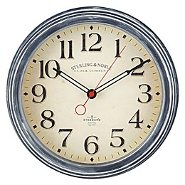 Sterling & Noble™ Farmhouse Collection Deep Profile 11.5-Inch Wall Clock in Blue
