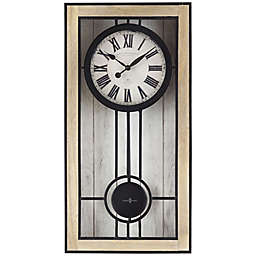 Sterling & Noble™ 24-Inch Farmhouse Collection Rustic Regulator Wall Clock in White
