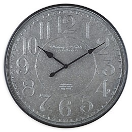 Sterling & Noble™ Farmhouse Collection Blacksmith Galvanized 32-Inch Wall Clock