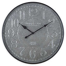 Sterling & Noble™ Farmhouse Collection Blacksmith Galvanized Wall Clock in Grey