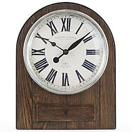 Sterling & Noble™ Farmhouse Collection Arched Mantel Clock in Brown