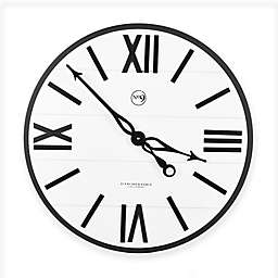 Sterling & Noble™ Farmhouse Collection Modern Urban Wall Clock in White