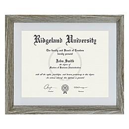 Portfolio by Sheffield Home® Rustic 8.5-Inch x 11-Inch Certificate Frame in Grey