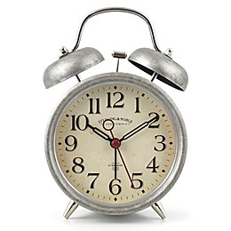 Sterling & Noble™ Farmhouse Collection Double Bell Alarm Clock in Pewter