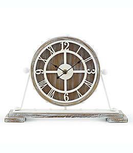 Sterling & Noble™ Farmhouse Collection Reloj rústico de mesa en café/crema