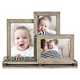 The Snuggle is Real 3-Photo Rustic Wood Pallet Photo Frame