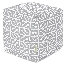 Majestic Home Goods™ Aruba Square Indoor/Outdoor Pouf