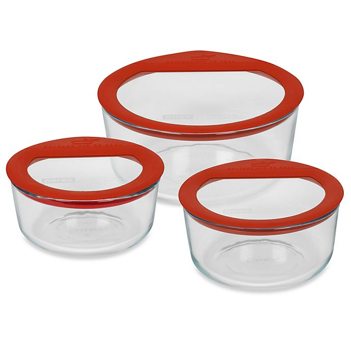 Alternate image 1 for Pyrex® No Leak™ Storage Glass Containers