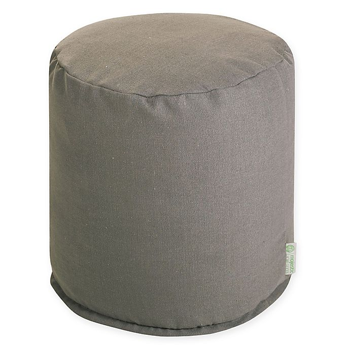 Alternate image 1 for Majestic Home Goods™ Polyester Wales Ottoman in Gray