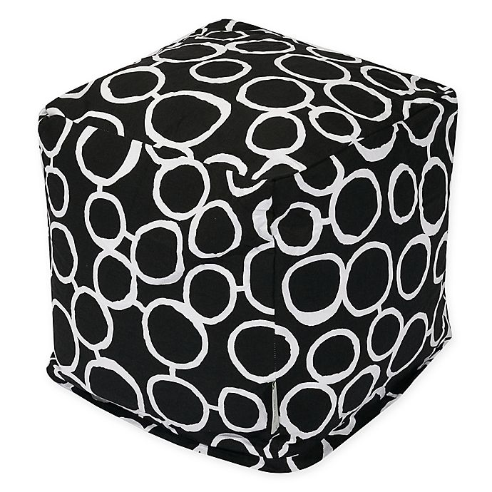 Alternate image 1 for Majestic Home Goods™ Cotton Fusion Ottoman in Black