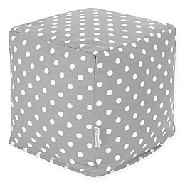 Majestic Home Goods™ Polyester Ikat Dot Ottoman