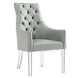 Inspired Home Steve Dining Chairs in Grey (Set of 2)
