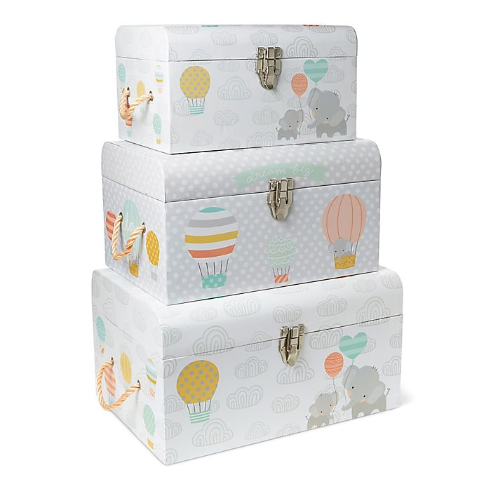 Alternate image 1 for Little Me® Elephant Balloon 3-Piece Nested Box Set