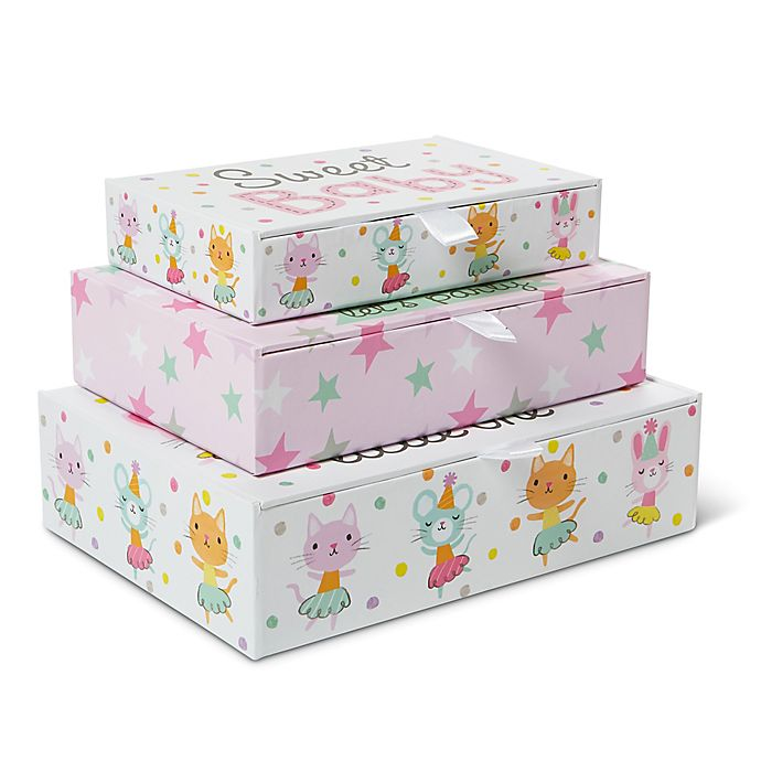 Alternate image 1 for Little Me® Baby Animals 3-Piece Storage Box Set