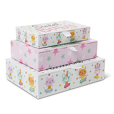 Little Me® Baby Animals 3-Piece Storage Box Set