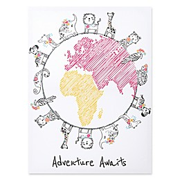 "Trend Lab® ""Adventure Awaits"" 18-Inch x 24-Inch Framed Canvas"