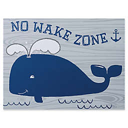 "Trend Lab® ""No Wake Zone"" 18-Inch x 24-Inch Framed Canvas"