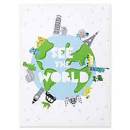 """Trend Lab®  """"See the World"""" Dinosaurs 18-Inch x 24-Inch Framed Canvas"""