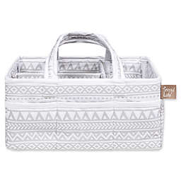 Trend Lab® Aztec Forest Diaper Caddy in Grey/White