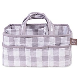 Trend Lab® Buffalo Check Diaper Caddy in Grey/White