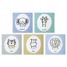 Trend Lab® Safari Yearbook 10-Inch Square Canvas Wall Art- Set of 5