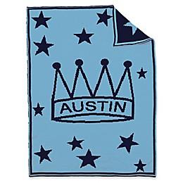 BK KNITS Crown Stars Baby Blanket