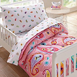 Wildkin Paisley Toddler Bedding Set in Pink