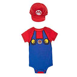 Nintendo® Mario 2-Piece Bodysuit and Hat Set in Red