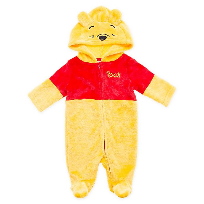 Alternate image 1 for Disney® Size 0-3M Winnie the Pooh Footed Hooded Coverall