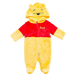 Disney® Size 6-9M Winnie the Pooh Footed Hooded Coverall