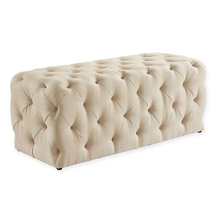 Alternate image 1 for Inspired Home Linen Doria Bench