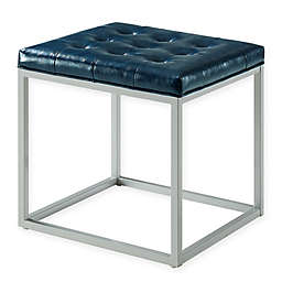 Inspired Home Leather Barkan Ottoman