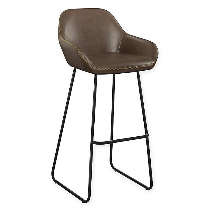 Enjoyable Faux Leather Woodbury 31 Bar Stools Set Of 2 Bed Bath Onthecornerstone Fun Painted Chair Ideas Images Onthecornerstoneorg