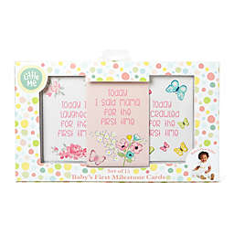 Little Me Butterfly Milestone Cards in Pink