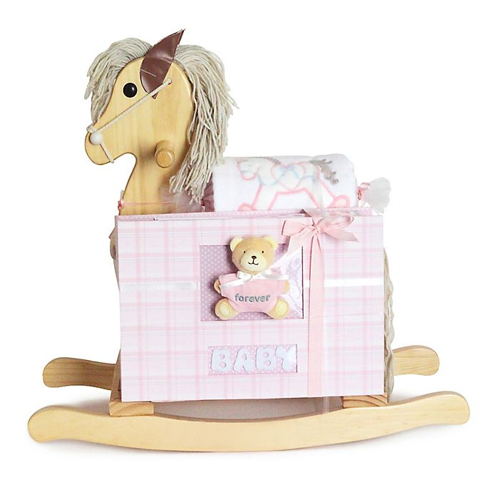 Alternate image 1 for Silly Phillie® Creations 2-Piece Rocking Horse Baby Gift Set