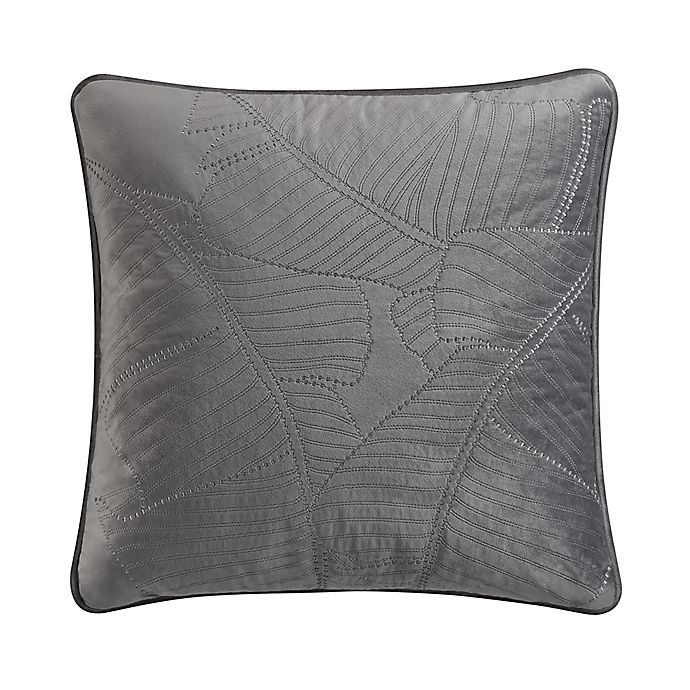 Alternate image 1 for Valeron Caruso Velvet Square Throw Pillow in Charcoal