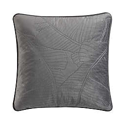 Valeron Caruso Velvet Square Throw Pillow in Charcoal