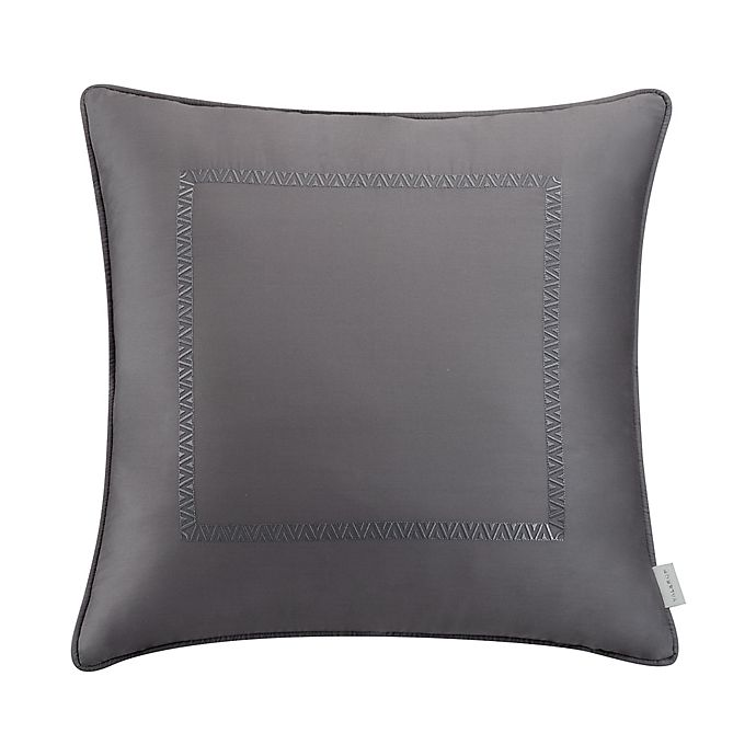 Alternate image 1 for Valeron Hotel Border Square Throw Pillow in Charcoal
