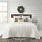 Bee & Willow™ Home French Vintage Ruffled King Quilt Set in White