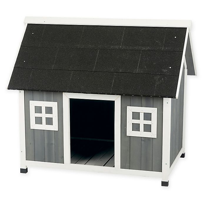 Alternate image 1 for Trixie Pet Products Barn-Style Dog House in Grey