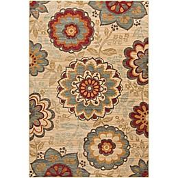 Surya Arabesque Floral Rug in Sage
