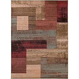 Surya Modern Patchwork Rug in Red/Brown